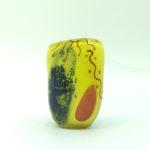 Carlos R. Pebaque, unik glas vase, gullaskruf, 2004