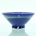 skål porcelæn blå glasur