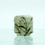 strå græs lågkrukke keramik