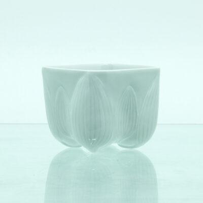 skål blade porcelæn