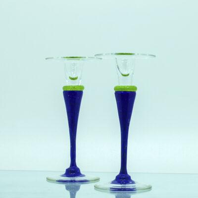 Lysestager glas