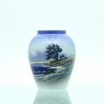 landskab vand hav træer vase porcelæn