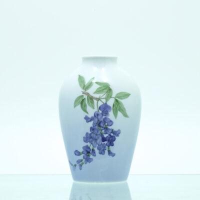 blåregn vase porcelæn