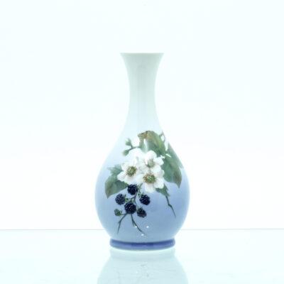 vase brombær brombærgren porcelæn