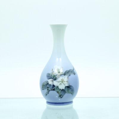 blomstrende æblegren vase porcelæn