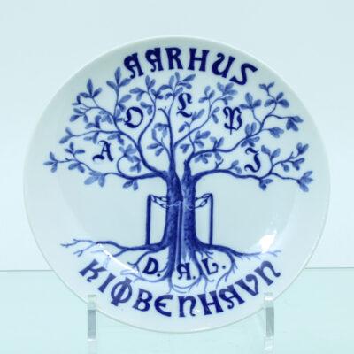 træ kæde bogstaver porcelæn