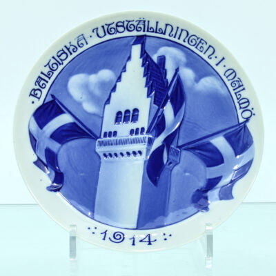 kirketårn flag platte porcelæn