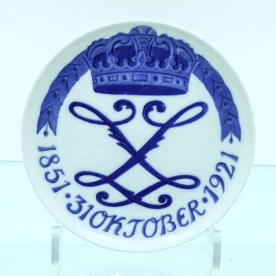 MOnogram kongekrone platte porcelæn