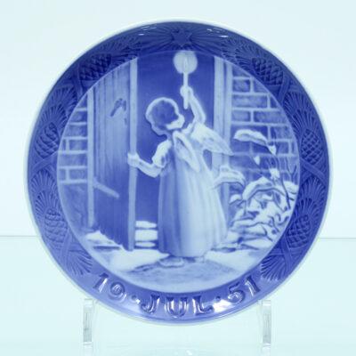 engel dør hus platte porcelæn glasur