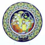 person blomster porcelæn platte