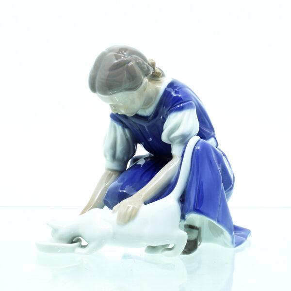 Pige Kat porcelæn
