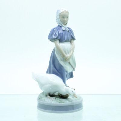 Gås Pige figur porcelæn