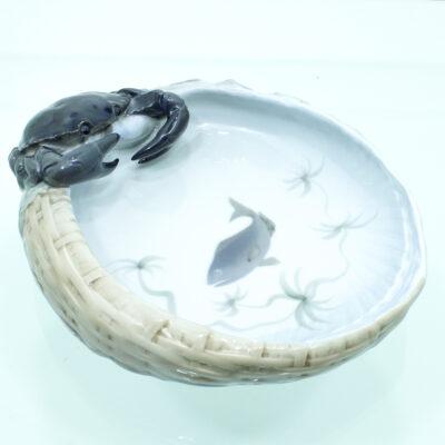 fisk krabbe tang kurv porcelæn