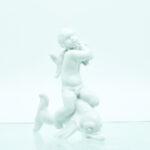 dreng delfiner porcelæn figur