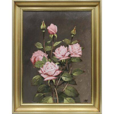 Blomster roser maleri